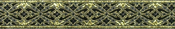 R321 7/8 Inch Gold and Black Diamonds