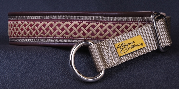 1 In Burgundy Celtic Knot on Coyote with Red-Brown Leather Chrome.jpg