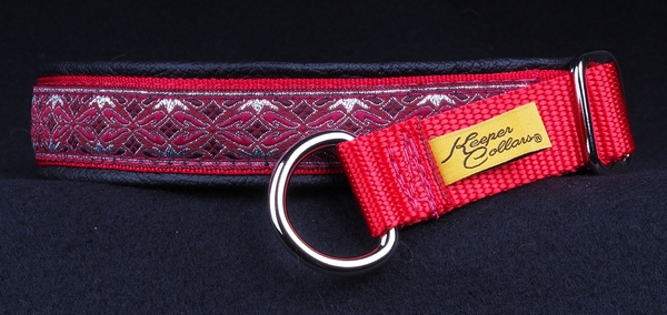 1 In Silver and Red Diamonds on Red Web with Black Leather Chrome.jpg