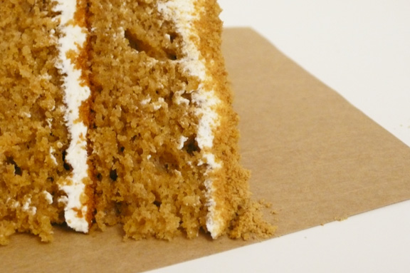 Cake: Two layers of Graham Cracker Cake with Vanilla Frosting.