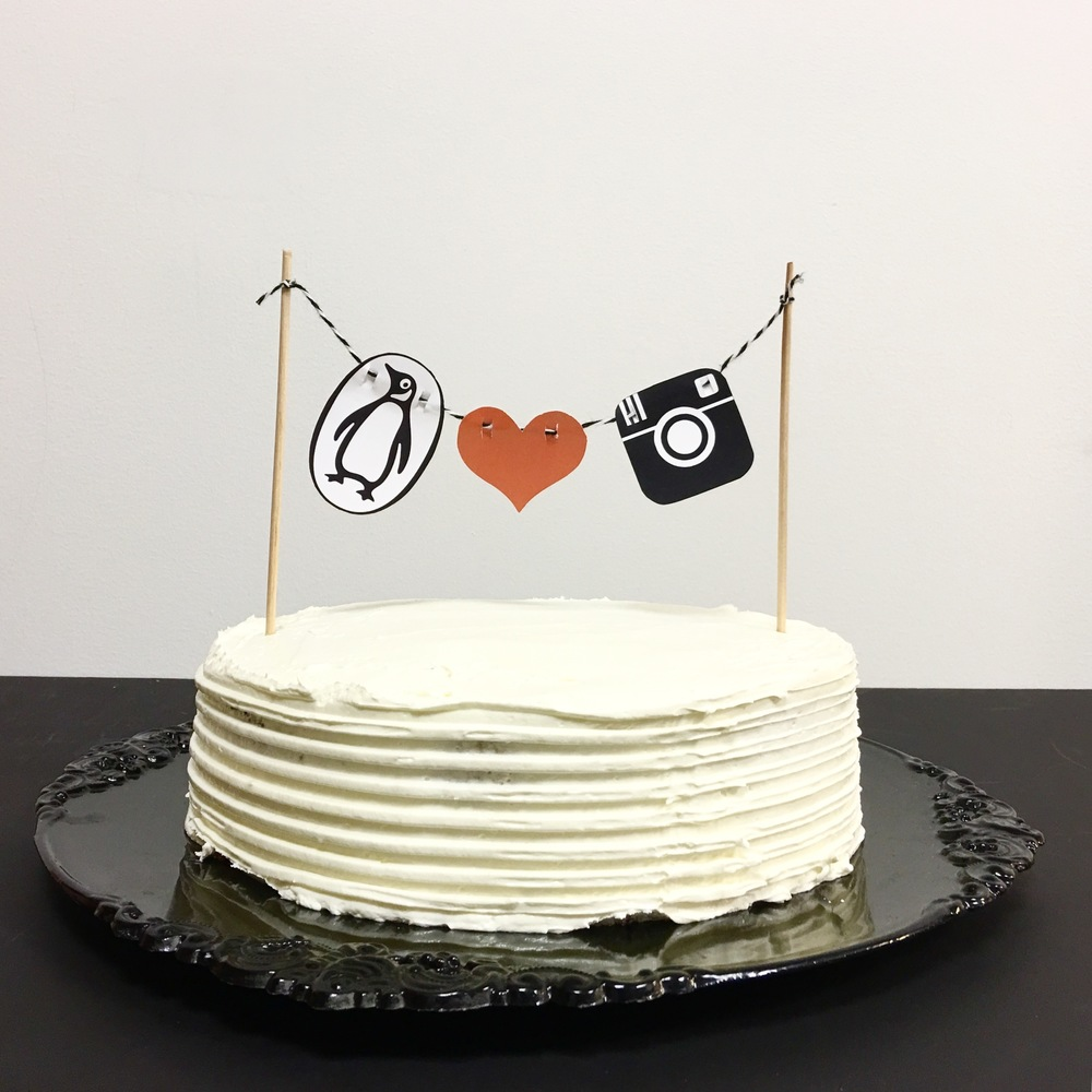 Penguin Instagram Cake