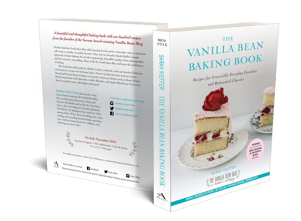 The Vanilla Bean Baking Book  by Sarah Kieffer. November 2016.    Advanced Readers Copy