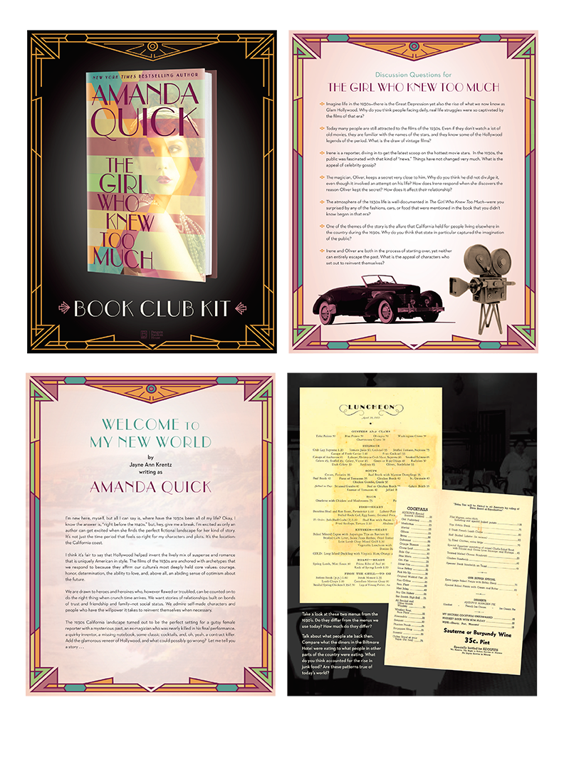 Book Club Kit. Distributed online but printable.