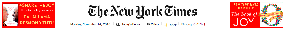 "NewYorkTimes.com homepage ""ears"" ad."