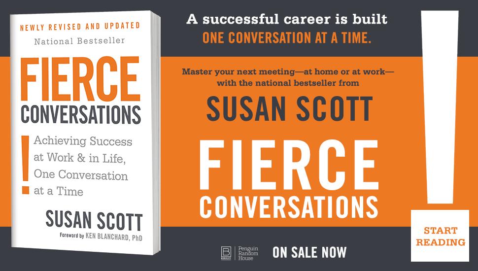 LiveIntent ad for  Fierce Conversations  by Susan Scott.