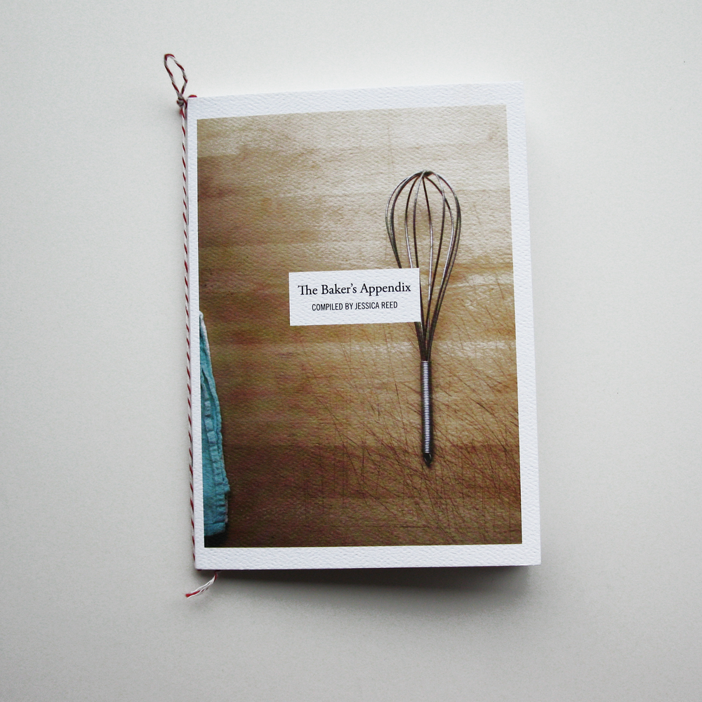 The Baker's Appendix   Self-published March 2014 Hand-tied baker's twine bookmark and hanging-loop.