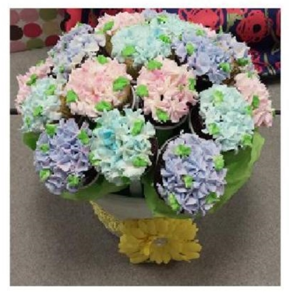 Marybeth and her friend created this realistic colorful cupcake bouquet using The Cupcake Rack! So cute!
