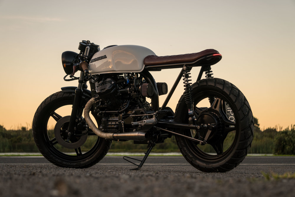 Favorito CX500 Cafe Racer Build — will nicholson JY73