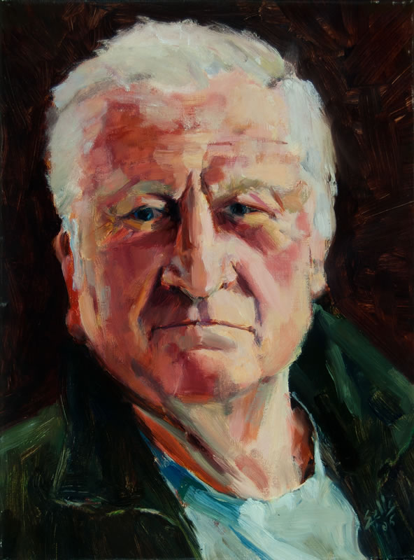 "Irish Man  - 12"" x 16"", oil on canvas"