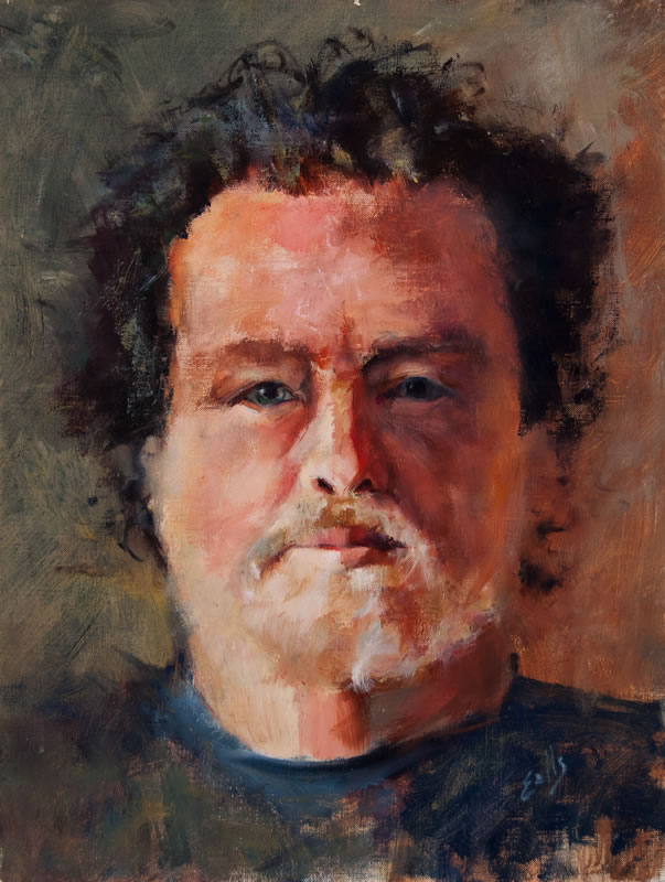 "Steve  - 12"" x 18"", oil on canvas"