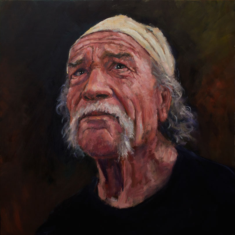 "Manny - 24"" x 24"", oil on birch"