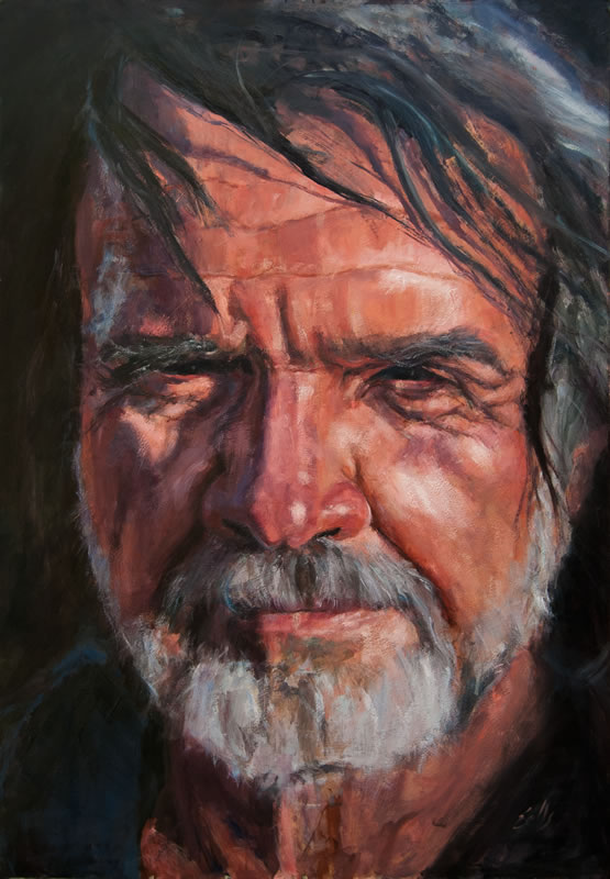 "George  - 32"" x 48"", oil on panel"
