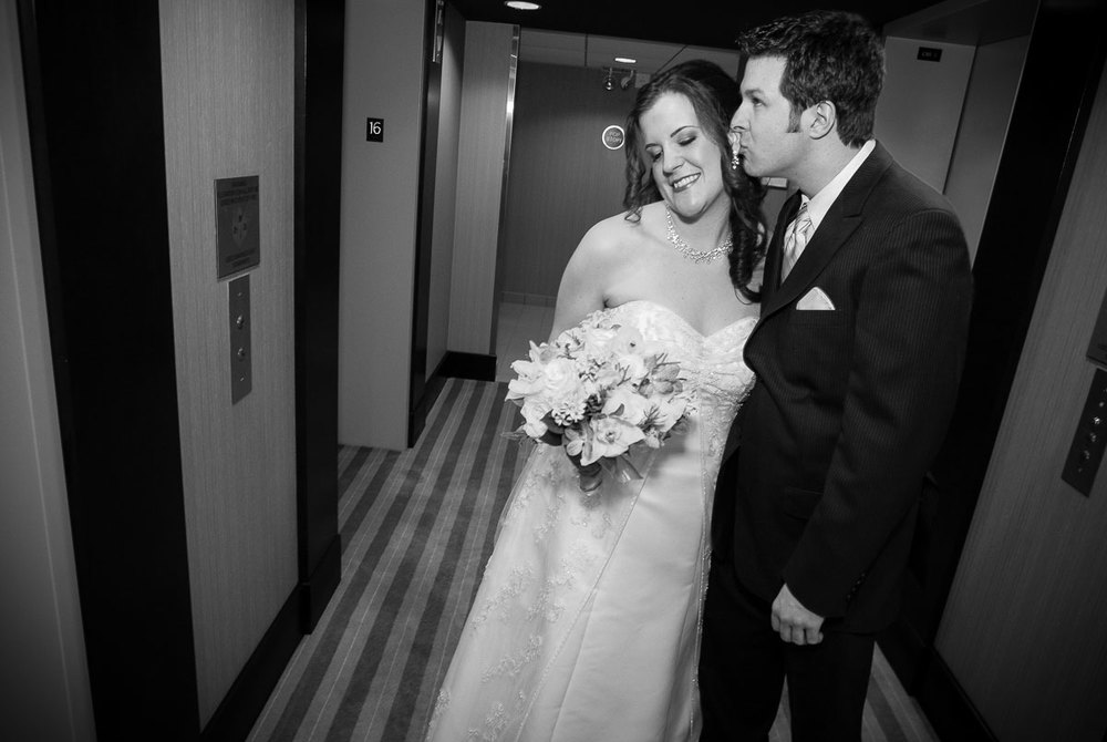 Documentary moment of the couple as they leave the Crown Plaza for the Catalyst Ranch in Chicago.