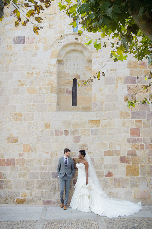 Destination wedding at the Parador Hotel in Zamora, Spain.