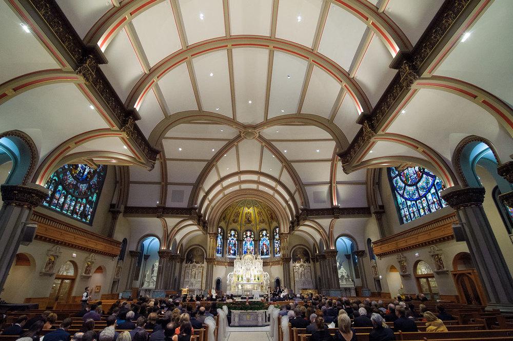 St. Vincent De Paul Chicago wedding.