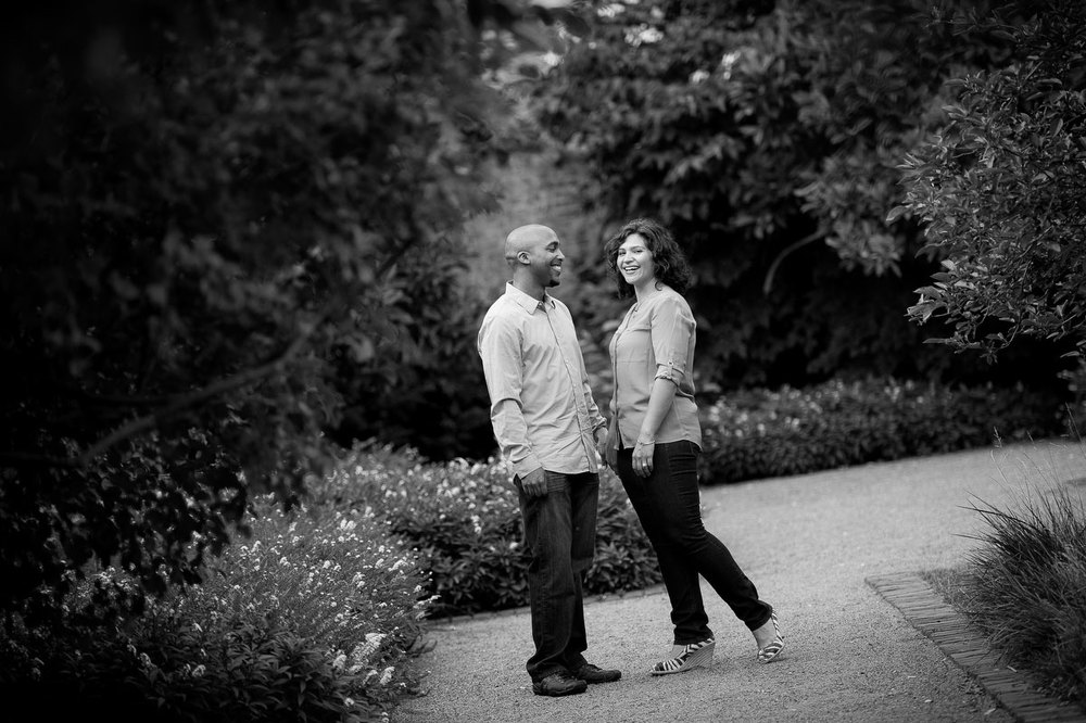 Chicago engagement session at Chicago Women's Park in the South Loop.