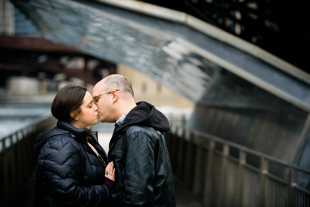 Chicago Riverwalk engagement session.