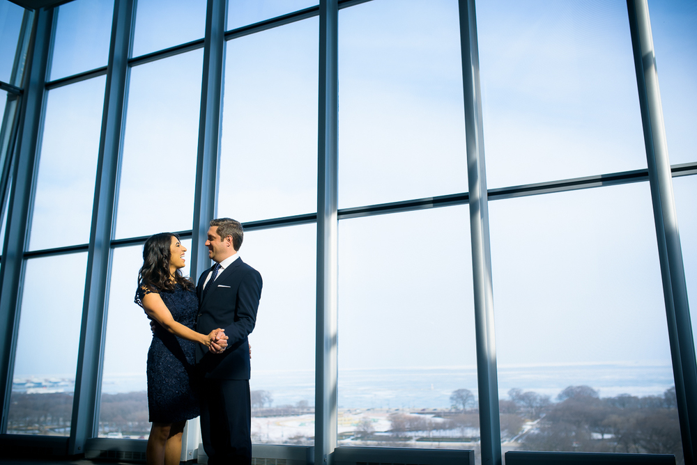 Engagement session at Venue Six10 Chicago.