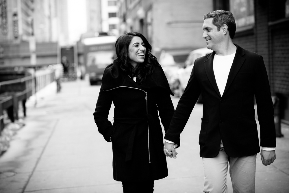 Candid, moment-driven, engagement session in Chicago.