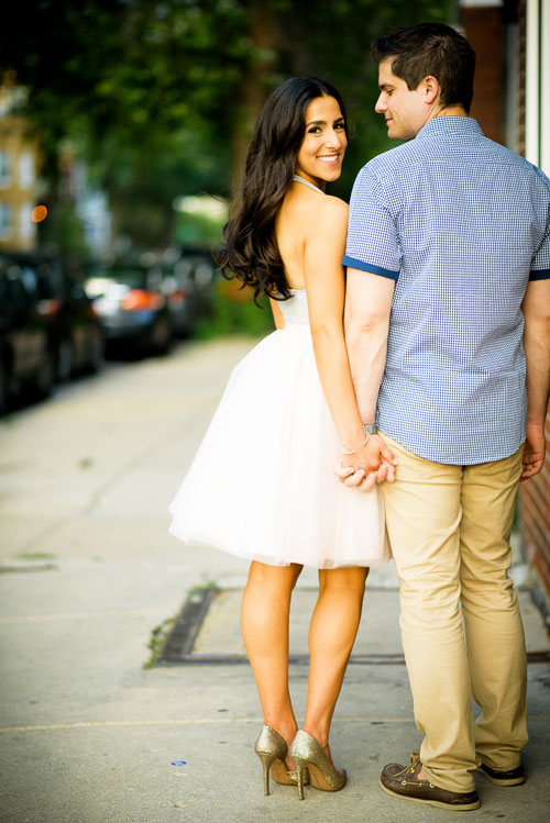 Roscoe Village Chicago engagement session.