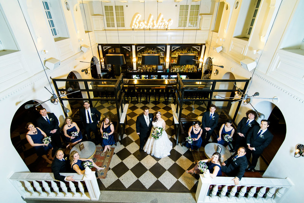 Bridal party at the The Berkshire Room in Chicago.