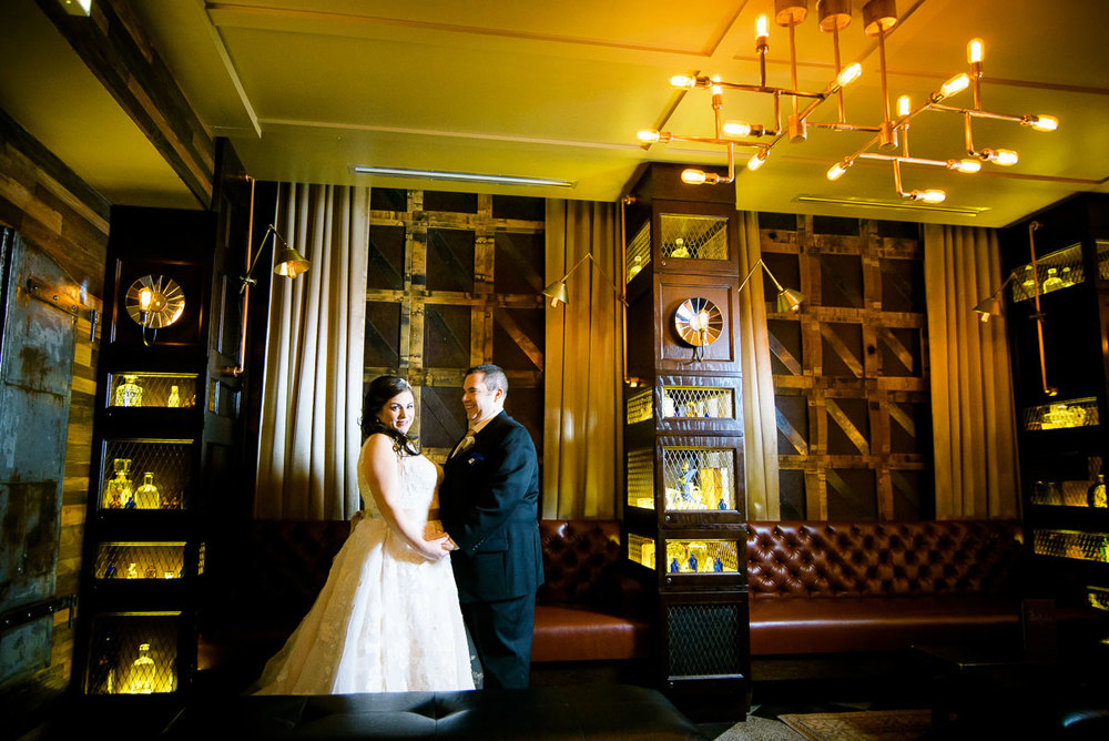 Bridal portrait inside The Berkshire Room in Chicago.