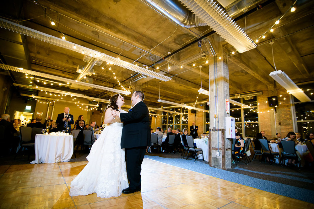 First wedding dance at Kendall College Chicago.