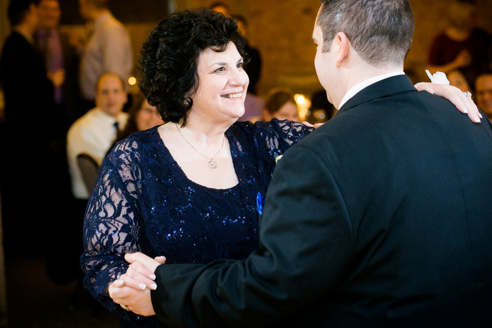 Mother & son dance during his Kendall College Chicago wedding.