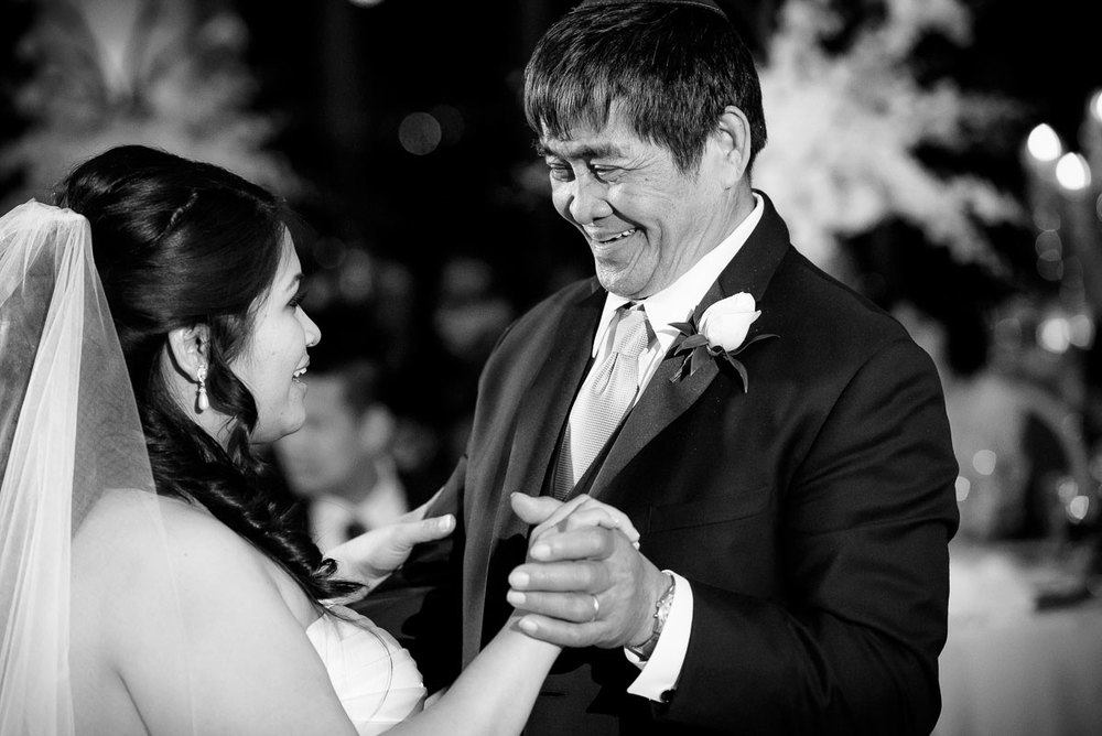 Father-daughter dance during a wedding at the DoubleTree Skokie.
