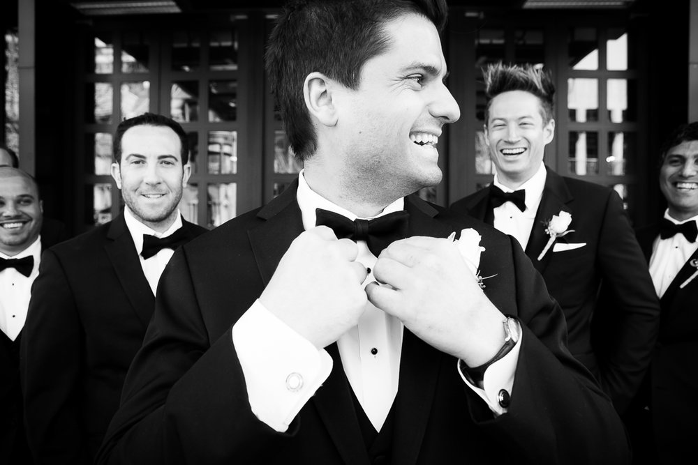 Groomsmen on the wedding day at the Thompson Chicago.