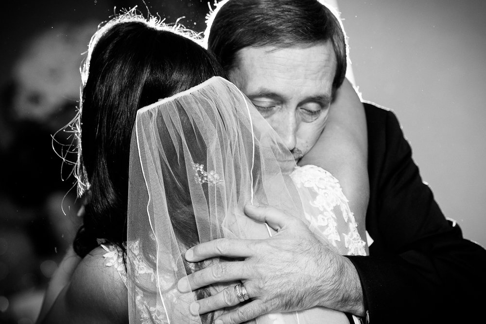 Emotional father-daughter dance at a Thompson Chicago wedding.