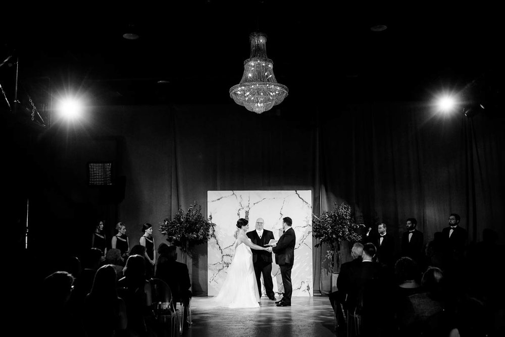 Wedding ceremony at Moonlight Studios Chicago.
