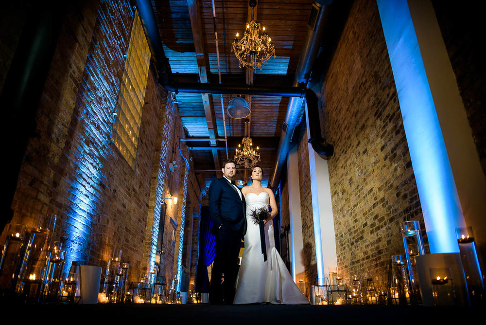 Creative wedding photo at Moonlight Studios Chicago.