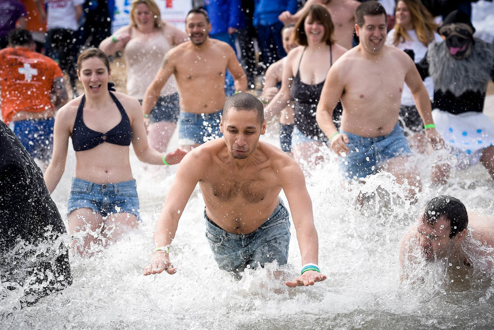 2017 Chicago Polar Plunge at North Avenue Beach.
