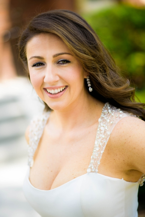 Bridal portrait before the ceremony in Beverly, Chicago.