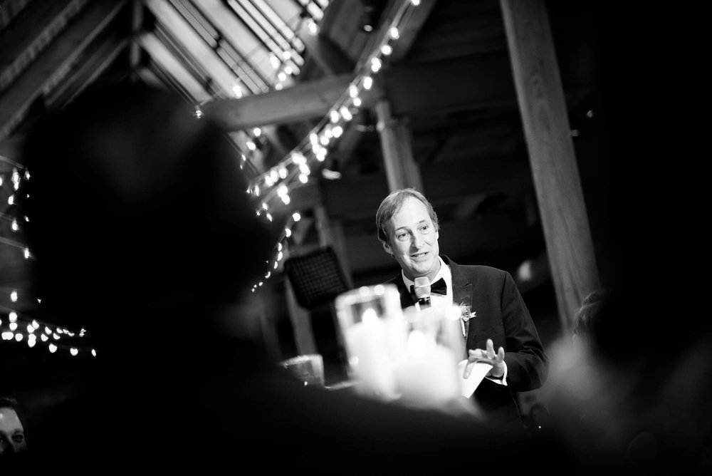 Father of the bride speech during a Bridgeport Art Center wedding in Chicago.