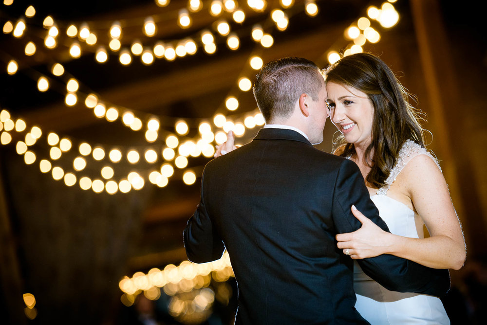 Couple's first dance during their Bridgeport Art Center wedding in Chicago.