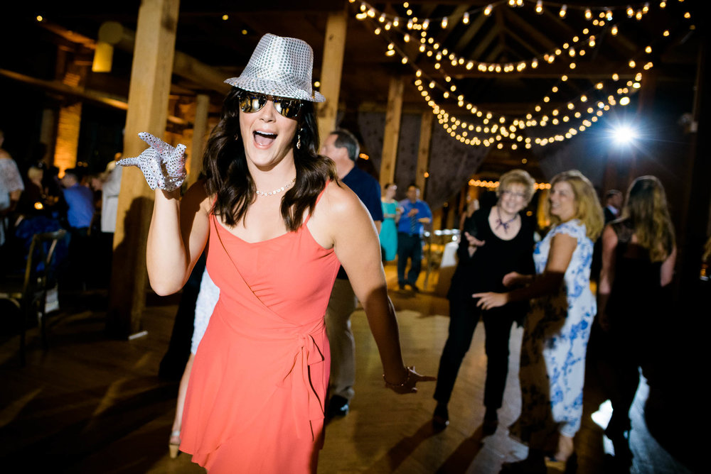 Party time during a Bridgeport Art Center wedding in Chicago.