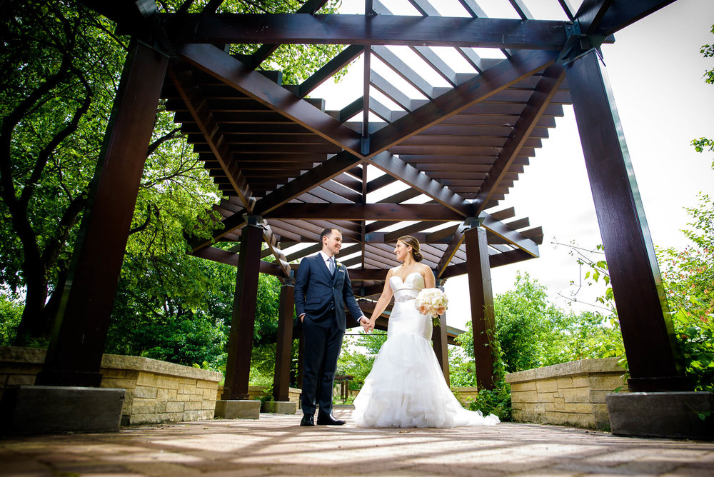Wedding portrait at Independence Grove in Libertyville.