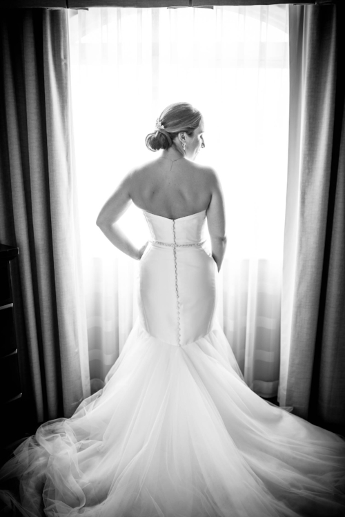 Bridal portrait before a wedding at Independence Grove in Libertyville.