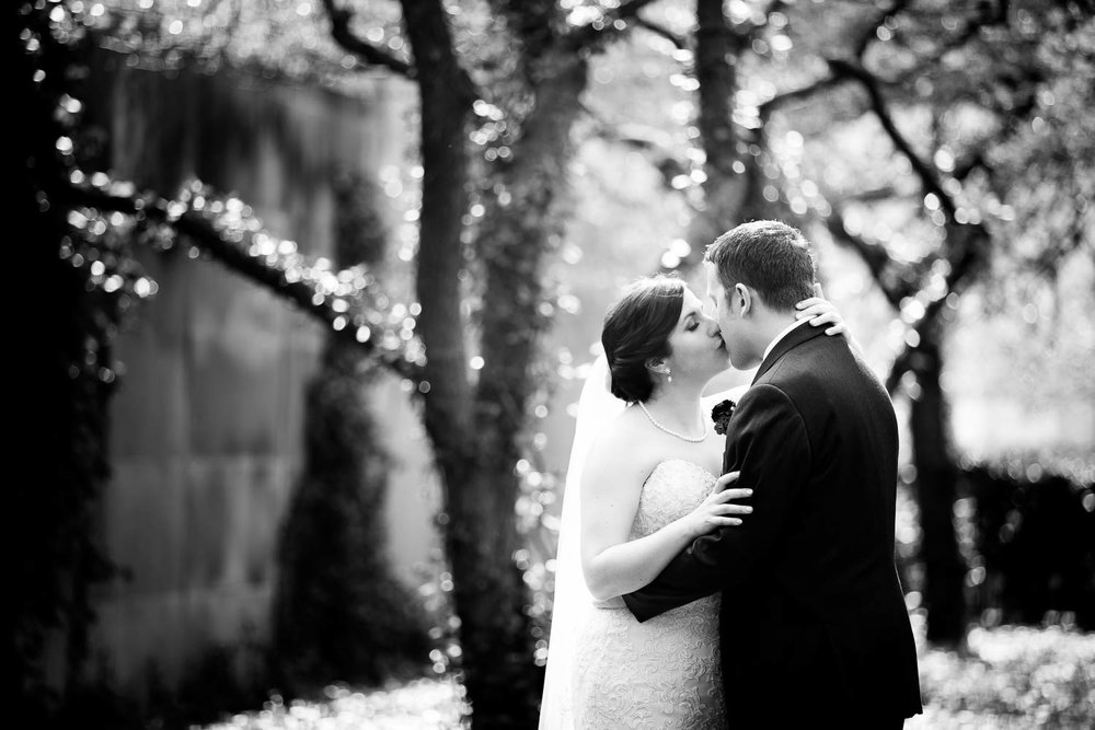 Chicago wedding portrait at the Art Institute South Gardens.