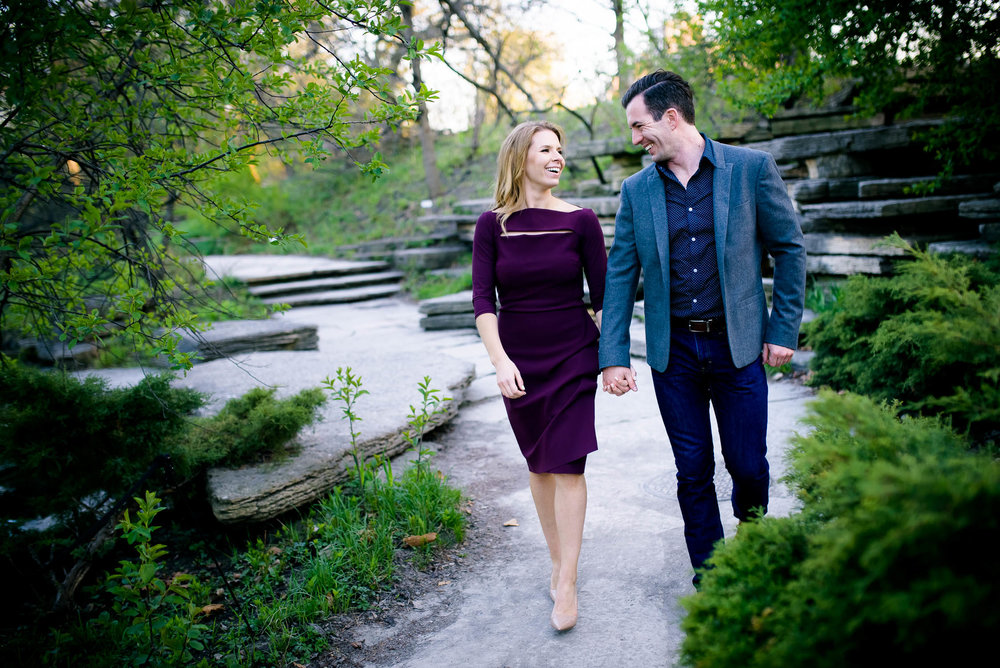 Chicago engagement session at the Caldwell Lily Pond in Lincoln Park.