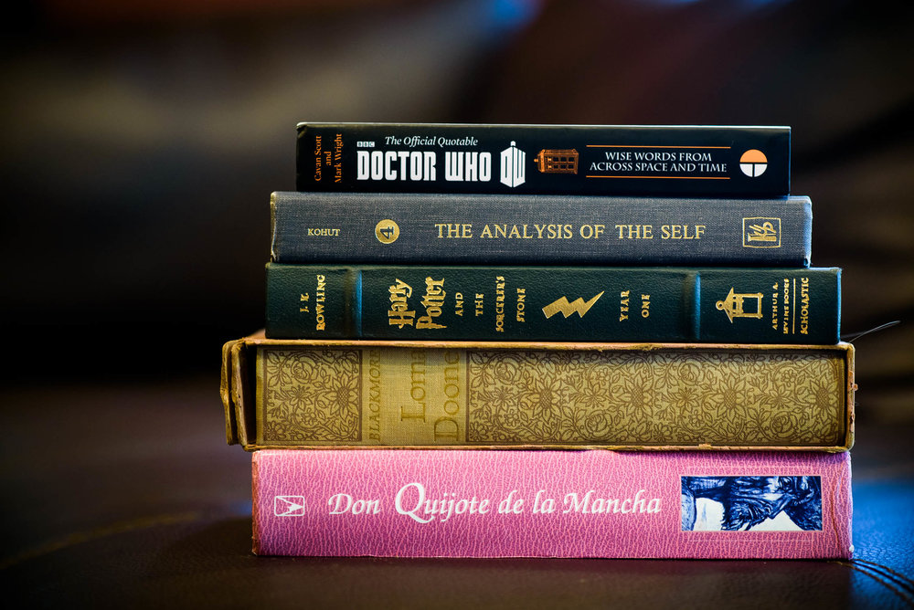 Books to be carried by the bridesmaid during a Quadrangle Club of Chicago wedding.