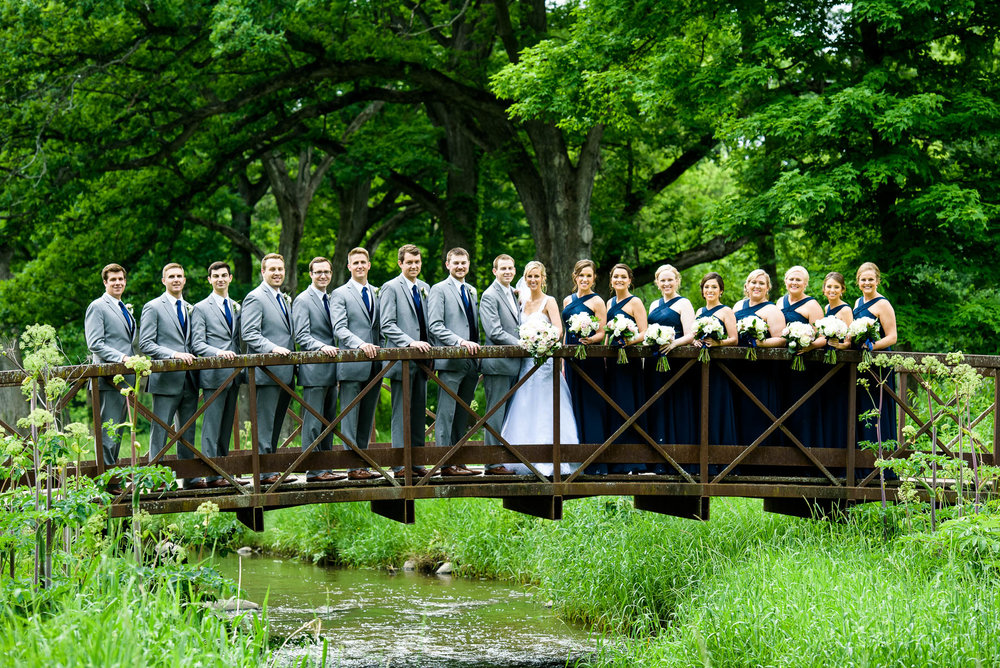 Wedding party photo at the St. Charles Country Club.