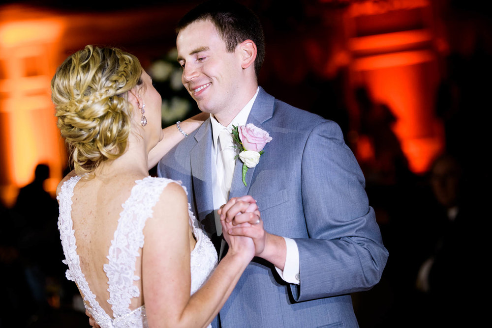 First dance during a St. Charles Country Club wedding