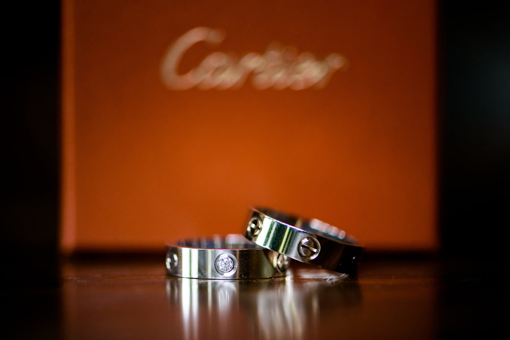 Cartier ring detail photo at Heritage Prairie Farm wedding.