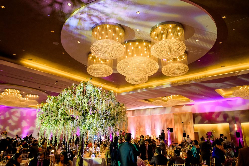 Opulent Renaissance Schaumburg Convention Center Indian wedding reception.