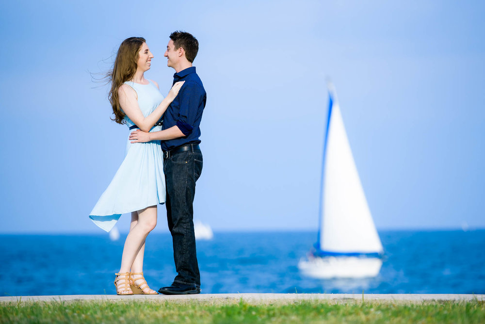 Montrose Harbor Chicago engagement session.