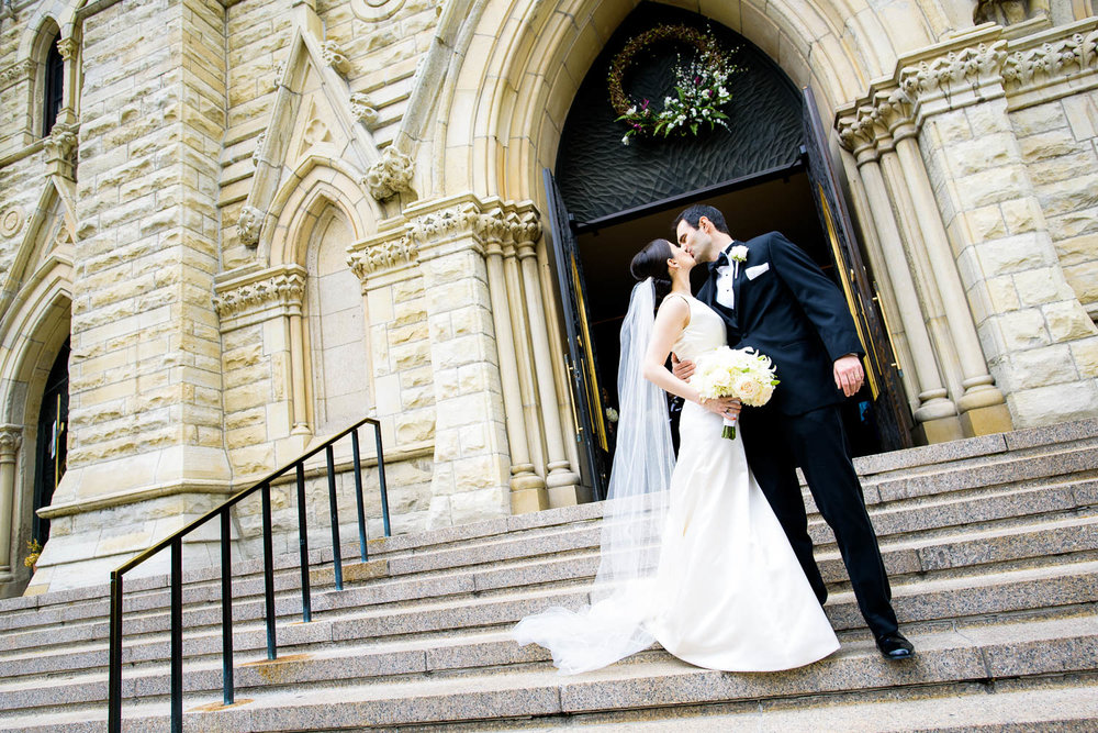 Holy Name Cathedral wedding ceremony.