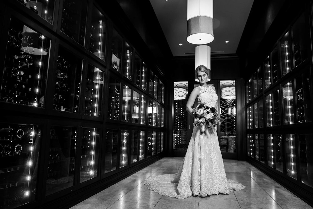 Creative bridal portrait at the Mid America Club in Chicago.